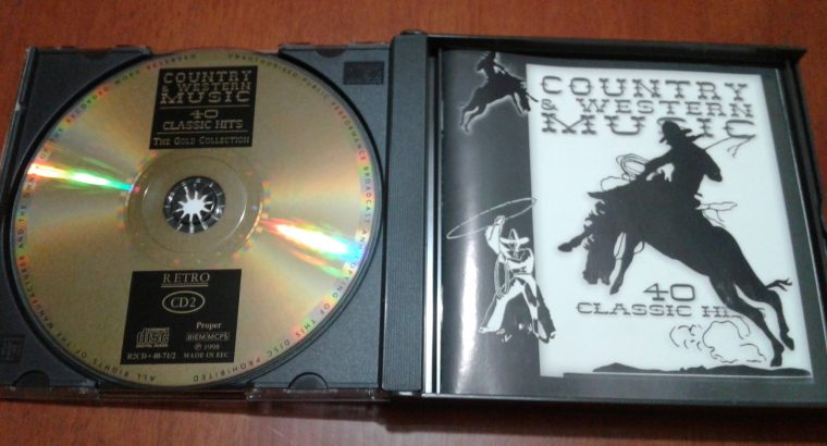 COUNTRY & WESTERN MUSIC 40 CLASSIC HITS THE GOLD COLLECTION