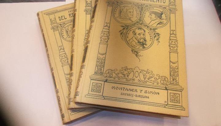 Primer tomo de historia del renacimiento montaner y simon editores – barcelona